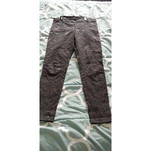 h&m black jacquard pants